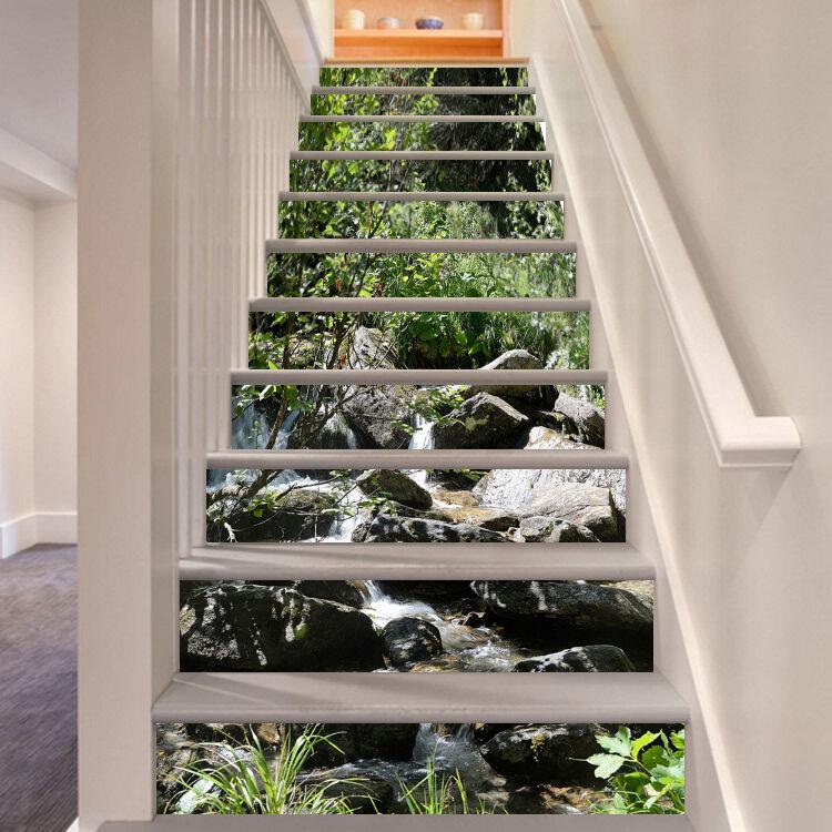 3D Natur Ansicht 36 Stair Risers Dekoration Fototapete Vinyl Aufkleber Tapete DE