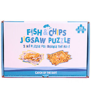 Fish-And-Chips-250-piece-Double-face-Fantaisie-Jigsaw-Puzzle-Game-in-Chip-Box