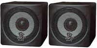 Pyle Pcb3bk Pair Of 100w 3'' Mini Cube Bookshelf Speakers (black - Pair)