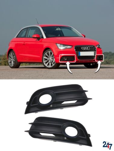 NEW AUDI A1 8X 2010-2015 FRONT BUMPER LOWER FOG LIGHT GRILL COVER PAIR SET