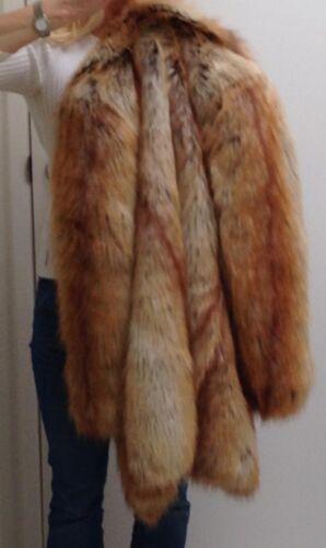 Cond Nm Fits 4 Excellent Xs Red Nicole Miller 350 Fox Us Faux Coat Size Fur S pqdq84x
