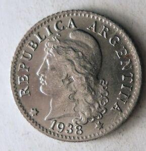 1938-Argentina-5-Moneda-Excelente-Moneda-Ganga-Bin-168
