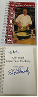 2009 CHEF SKIP'S CAPE FEAR COOKERY cookbook, Wilmington NC ~ SIGNED