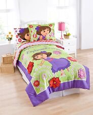 Dora Comforter twin+ pillow sham Cotton 2 piecs set Licensed bedding Nickelodeon