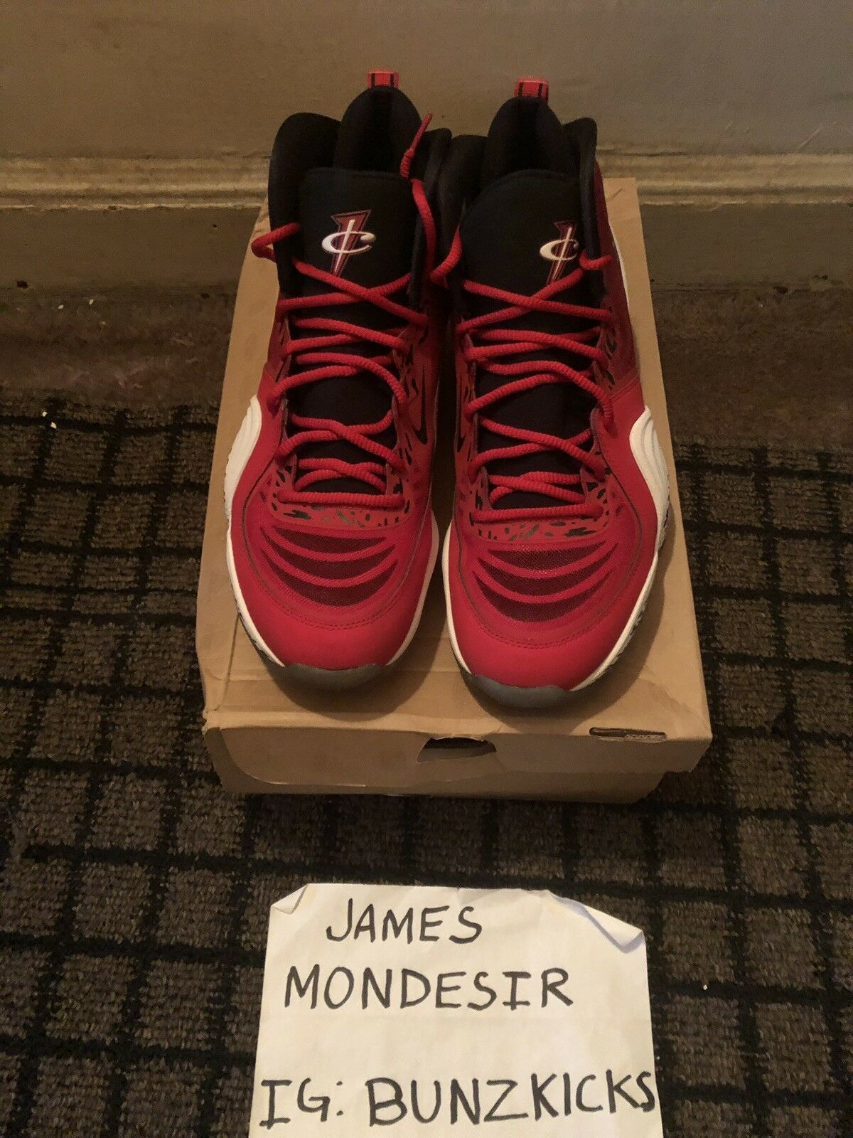 "Nike Air Penny V ""Red Eagle"" Sz 12 Jordan 11 1 90 95"