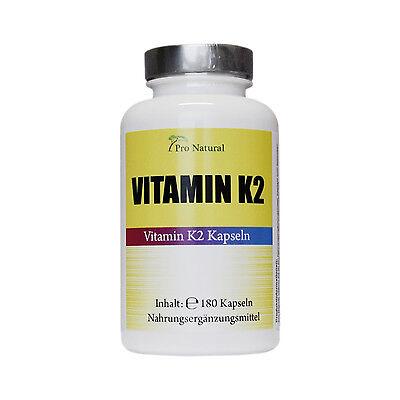 Pro Natural Vitamin K2 - 200µg 180 Vegane Kapseln Natürliches Menaquinon MK-7