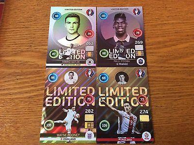 Versión UK Panini Adrenalyn XL Euro 2016 Gareth Bale rara tarjeta de edición limitada