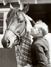 "Seabiscuit & canadian jockey Red Pollard 10"" x 8"" photo print"