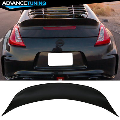 2010 2011 2012 2013 2014 2015 2016 2017 Ikon Style Unpainted Black PP Trunk Boot Lip Spoiler Wing Deck Lid By IKON MOTORSPORTS Trunk Spoiler Compatible With 2009-2020 Nissan 370Z