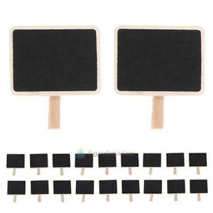 20-Pcs-Mini-Blackboard-Chalkboard-Office-Home-Wooden-Message-Labels-Holder