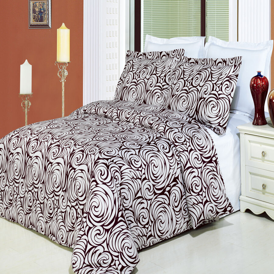 Tustin Printed Cotton 3 Piece Duvet Set 100% Cotton