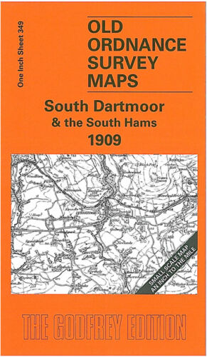 OLD ORDNANCE SURVEY MAP SOUTH DARTMOOR SOUTH HAMS 1909 HARBERTON IVYBRIDGE