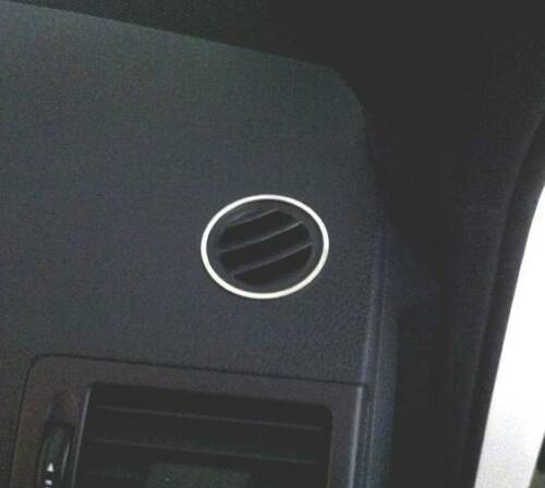 Edelstahl poliert 2 Teile D Mercedes W204 Chrom Ringe für Lüftungsgitter