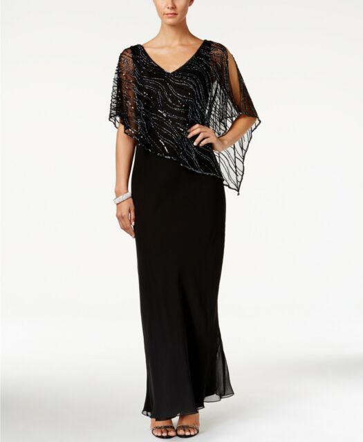 JKARA Women Black Sequin Beaded Popover