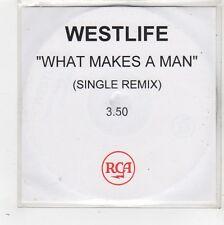 (FW618) Westlife, What Makes A Man - DJ CD
