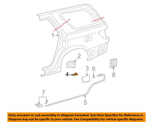 TOYOTA OEM Fuel Door-Gas Cap Hatch Spring 7736033020