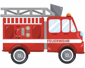 Samunshi-Cooles-Feuerwehrauto-Aufkleber-Sticker-Autoaufkleber-Scheibenaufkleber