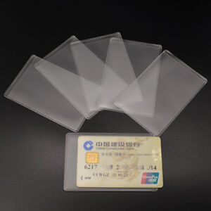 214258af5615 10Pcs Clear ID Card Cover Case Holder Transparent Protector ...