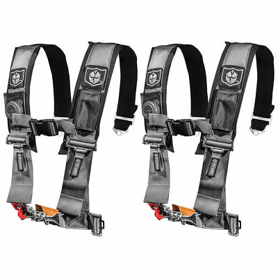 """PRP 4 Point Harness 3/"""" Pads Seat Belt SINGLE SILVER Polaris XP Turbo 1000 RS1"""
