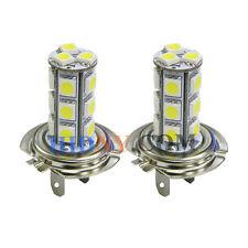 A Pair H7 18-SMD 5050 LED SMD Fog Lights DRL Driving Lamp Xenon White 12V