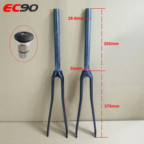 EC90 Full Carbon 3K Road Bike Fork 1-1//8 Threadless Rigid Matt//Gloss LightWeight