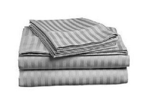 1000 TC Split Sheet Set All Striped Colors /& Sizes Egyptian Cotton