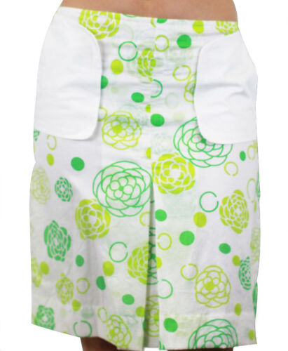 CUSTO BARCELONA Women/'s Lux ATM Green Floral Print Skirt 293524 $94 NWT