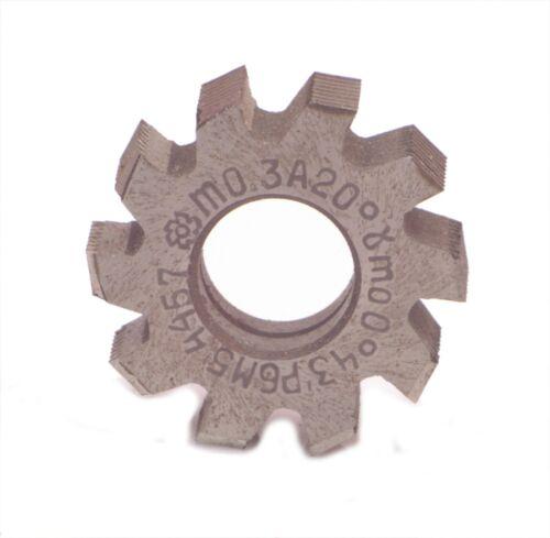 Hob cutter m0.3 HSS 20 deg gear thread involute 25mm dia free shipping
