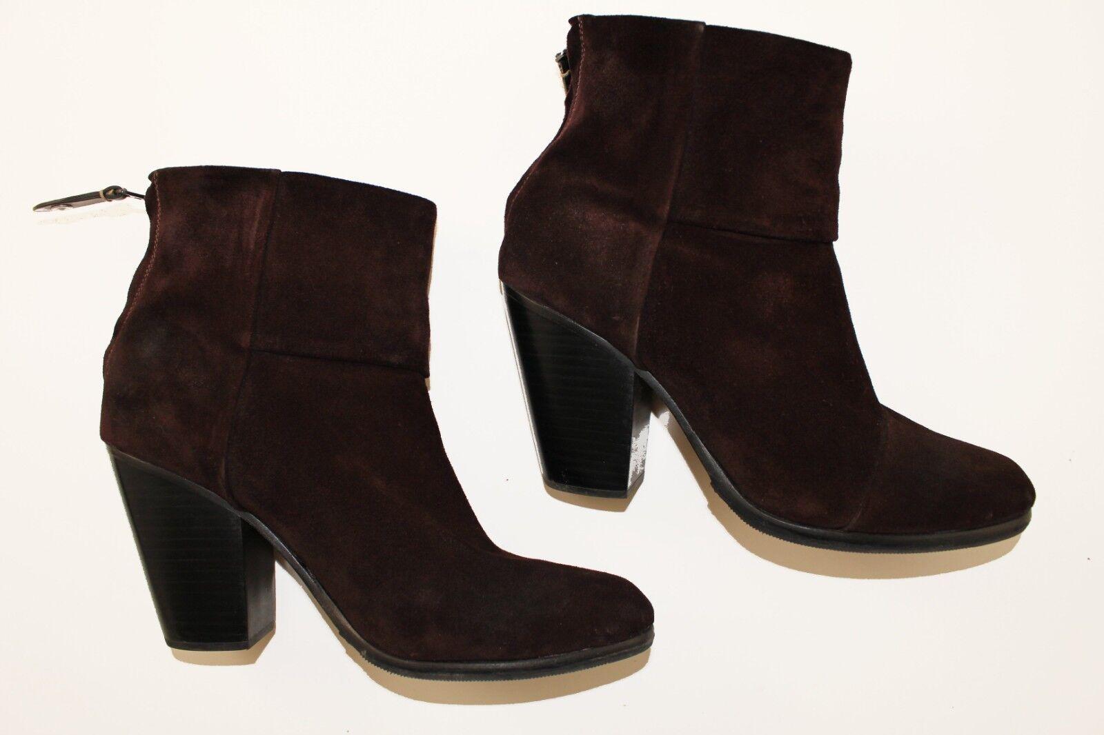 Rag & Bone Classic Newbury Stiefelie in in in oxblood Suede sz US 11   EU 41 21c79a