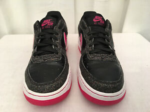 Details about NIKE (314219 016) Girls Black Vivid Pink Air Force 1 GS ShoesSneakers, Size 4Y