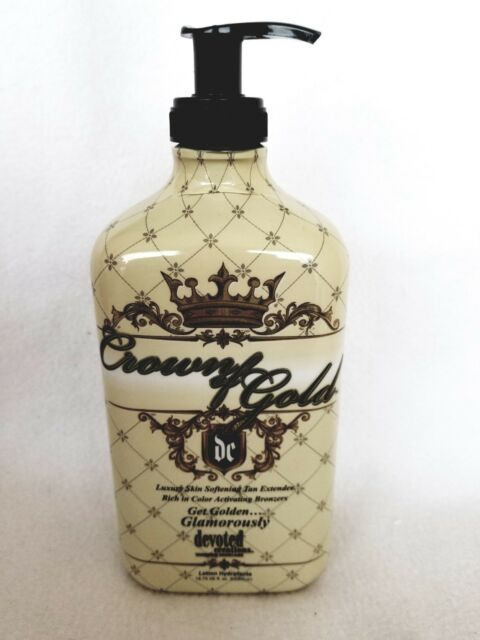 Crown of Gold Bronzer Moisturizer After Tan Extender Lotion Devoted Creations