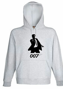 image is loading james bond 007 silhouette image hoodie jumper retro