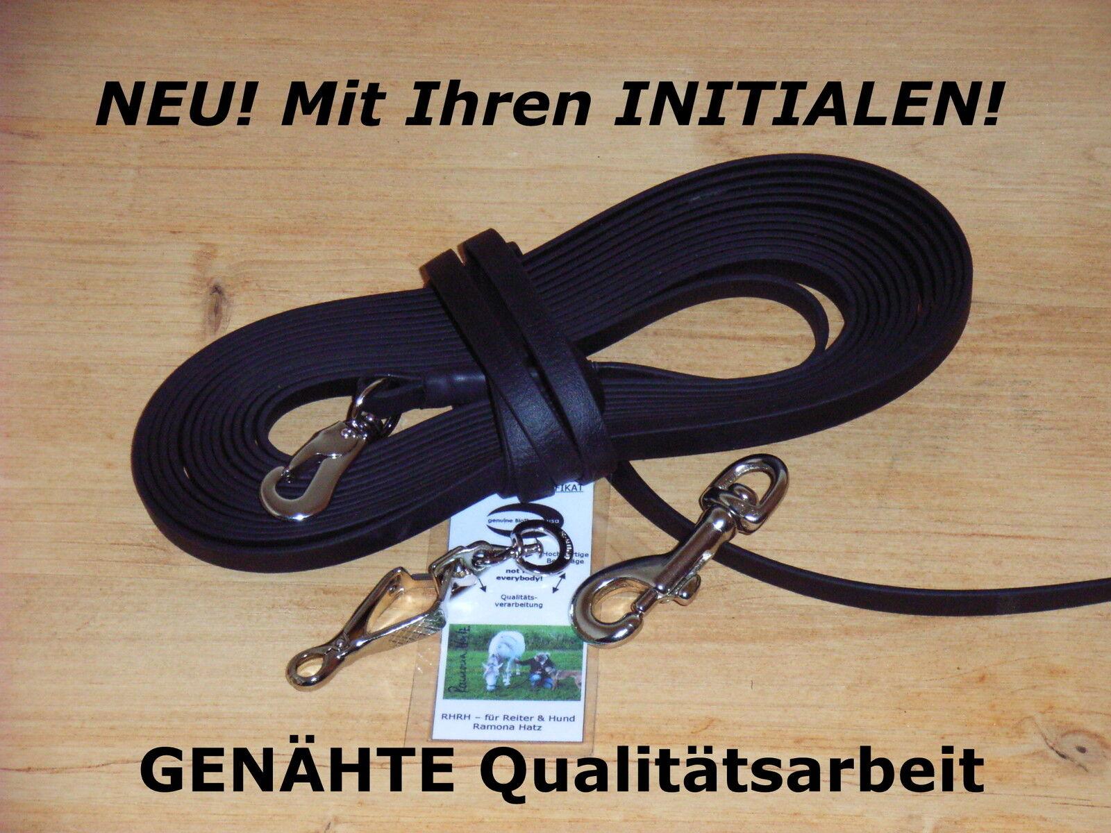 20m BioThane Schleppleine schwarz 16mm GENÄHT  Suchleine Fährtenleine Fährtenleine Fährtenleine    Ausgezeichnetes Handwerk  cb8e5c