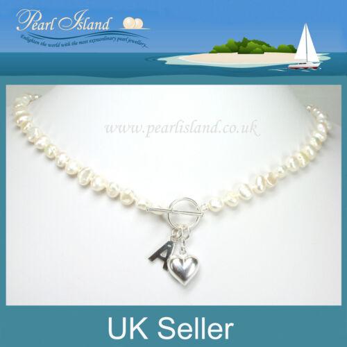 Personalizado Blanco Agua Dulce Perlas Collar Ideal Regalos para todas las edades