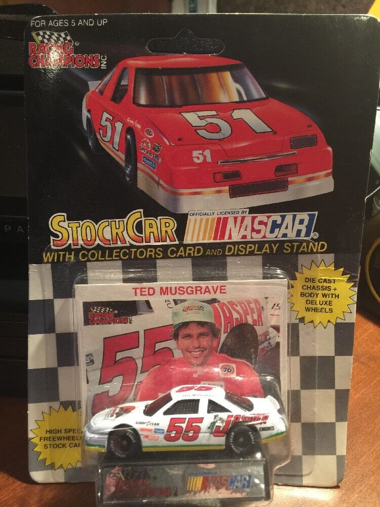 Racing Champions Ted Musgrave Jasper Trans w Card & Display 1 64th 1991