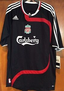 2ad12419979 Image is loading NEW-LIVERPOOL-FC-BLACK-JERSEY-THIRD-KIT-2007-