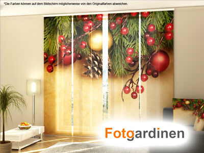 Maßanfertigung Fotogardinen Weihnachten Schiebegardinen