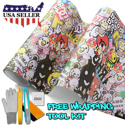 *JDM USDM Anime Graffiti StickerBomb Vinyl Decal Sticker Car Wrap Sheet DIY #MAR