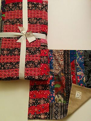 Pottery Barn Pauline Boyd Patchwork Hearth Hand Made Quilt OR  $299 New