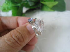 Natural Soft PINK KUNZITE and TANZANITE Stones RING Fine SILVER S4.5