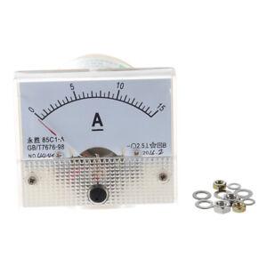 85C1 DC Pannello 0-15A amperometro analogico rettangolo Gauge T8A3