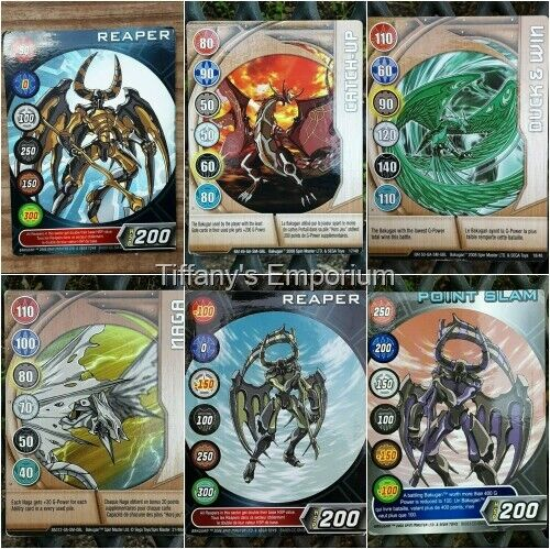 Bakugan Gold Silver Bronze Gate Blue Green and Red Ability Cards You Choose