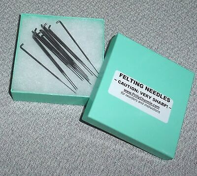 Doll Hair Rooting and Reborns QTY 12 Prilly/'s FELTING NEEDLES Gauge #40