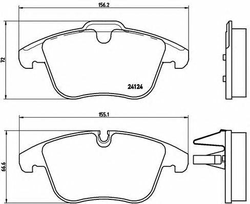 BREMBO Front Axle BRAKE PADS SET for JAGUAR XF 3.0D 2009-2015