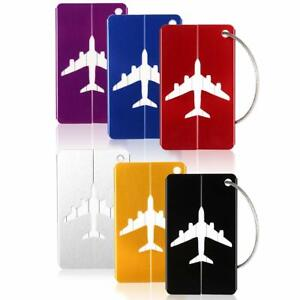 6PCS-Aluminium-Luggage-Tag-Suitcase-Baggage-Travel-Name-Address-ID-Tag-Label