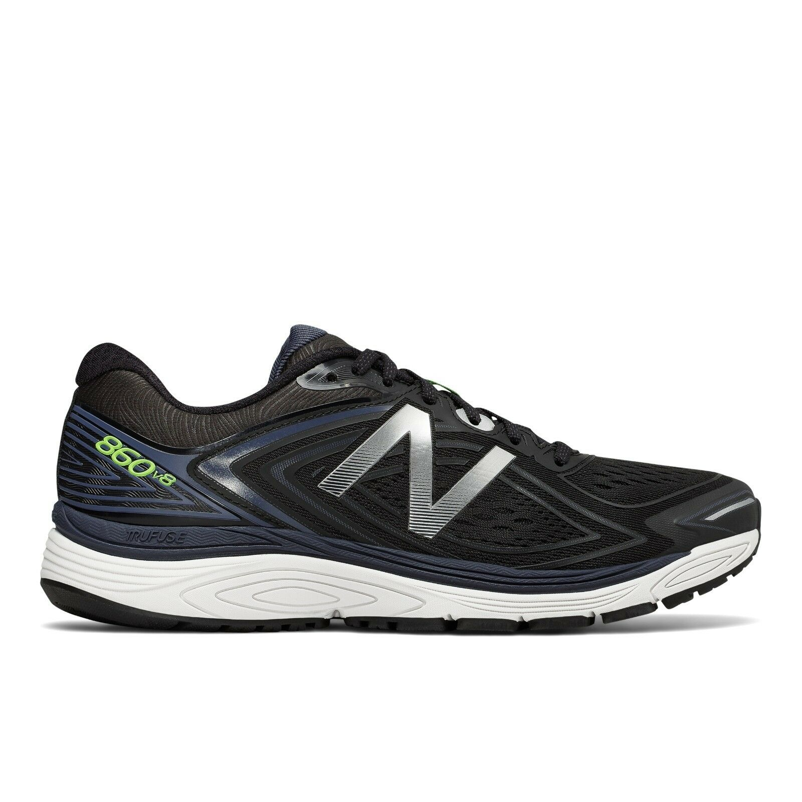 New Balance Men's M860BW8 860v8 Black with Thunder Stability Sneaker Shoes
