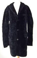 Men's VIKTOR & ROLF Black Lamb Fur Leather Coat 52 42