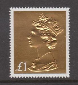 GB-2017-Gold-Foil-Machin-Anniv-1-Definitive-ex-Booklet-Unmounted-Mint-Stamp-UK