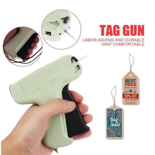 "Clothes Garment Price Label Tagging Tag Gun 3""1000 Barbs + 5 Needles New"