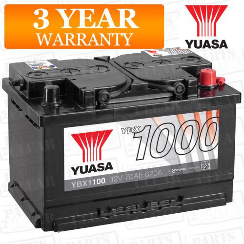 Car Battery YBX1100 Calcium Open Vent 620CCA 70Ah T1 Terminal by Yuasa